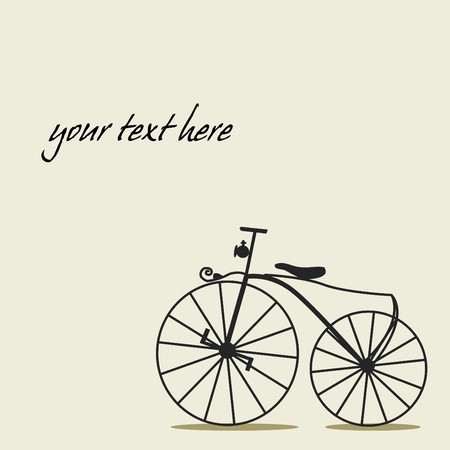 Simple background with a bicycle with place for your text Vector
