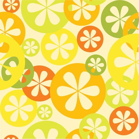 Citrus seamless  pattern illustration Vector