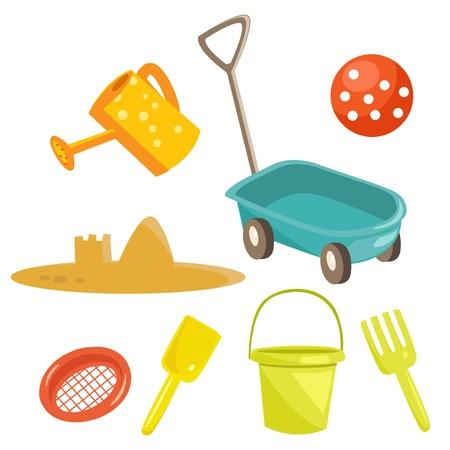 Cartoon sand toys Stock Vector - 7302997