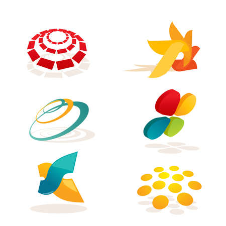 global logo: Set of abstract design elements