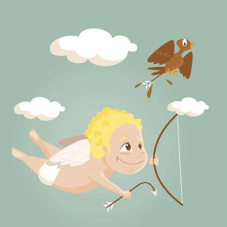 angelic: Dibujos animados cute Cupido, ilustraci�n