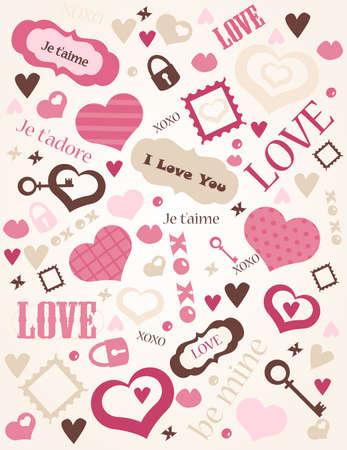 Love background,  illustration Vector