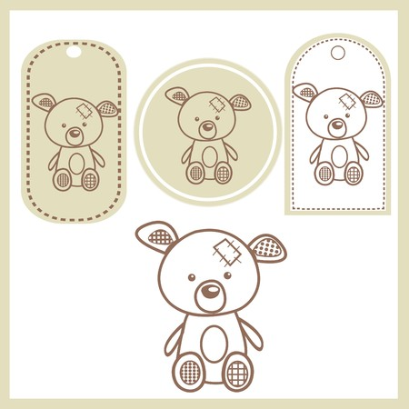 Baby bear labels Stock Vector - 7718644