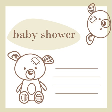 Baby shower announcement card  Stock Vector - 7718640