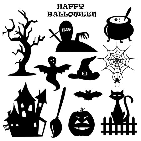 Collection of Halloween elements.