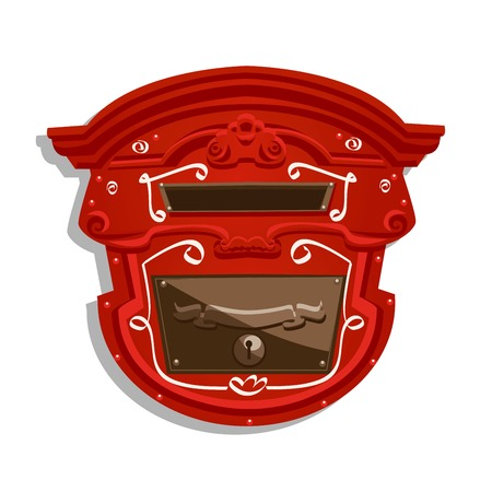addressee: Red Postbox isolated , vector illustration Illustration