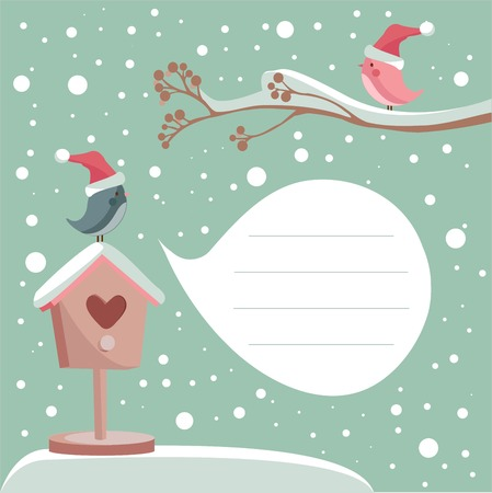 winter card with place for your text, vector illustration Stock Vector - 8192171