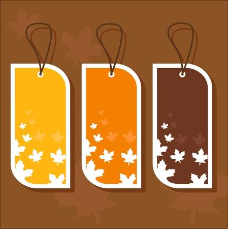 Autumn tags Stock Vector - 8310576