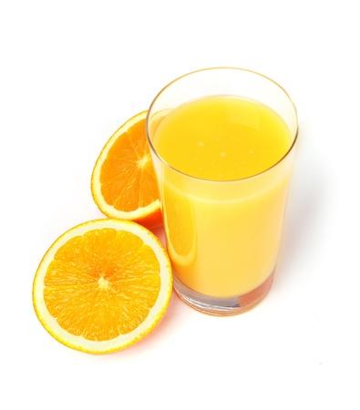 Orange juice isolated on white background Stock Photo - 8310595