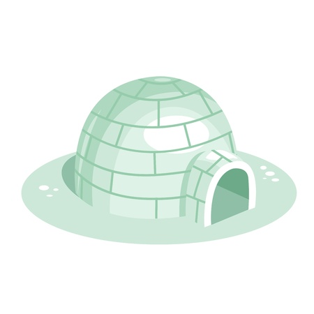 igloo: Cartoon igloo