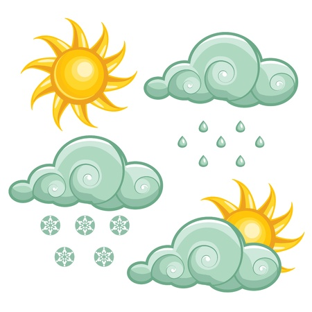 Weather icons set Stock Photo - 8419836