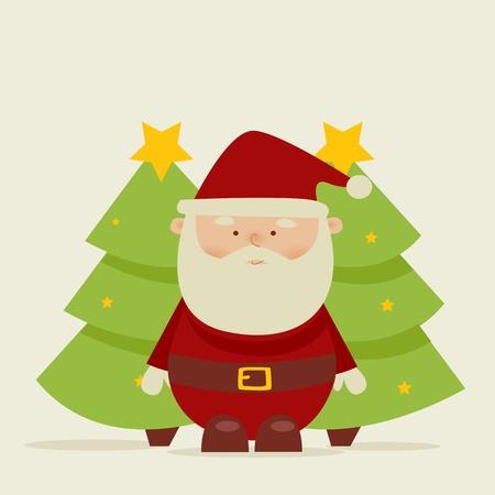 Retro cartoon santa  Stock Vector - 8419834