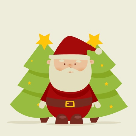 santa suit: Retro cartoon santa
