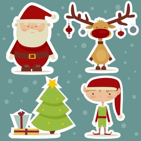 elves: retro cartoon  stickers