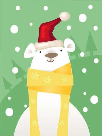 Christmas ice Bear Stock Vector - 8453422