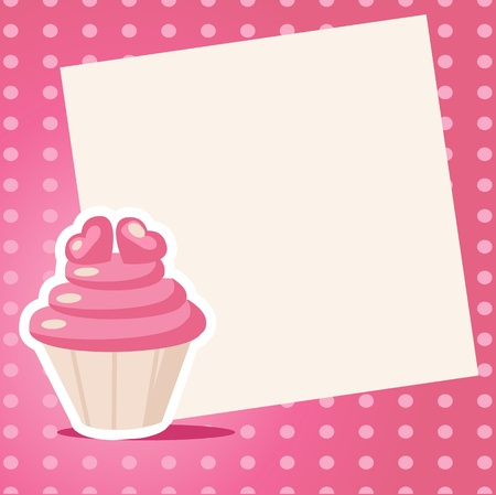 yummy: Vintage cupcake background with place for your text