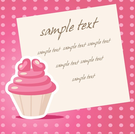Vintage cupcake background with place for your text Vector