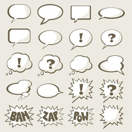 bande dessin�e bulle: Ensemble de discours bulle avec espace pour votre texte Illustration