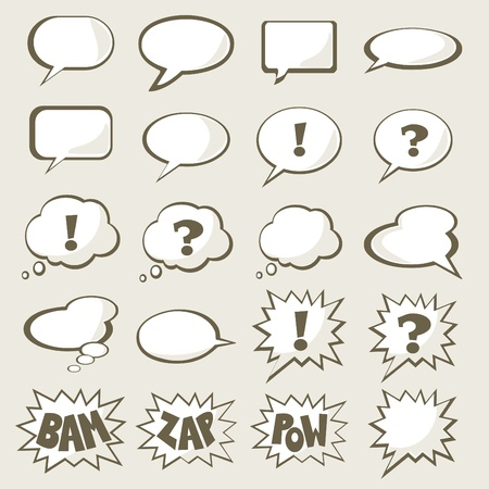 comic bubble: Set of speech bubble with space for your text