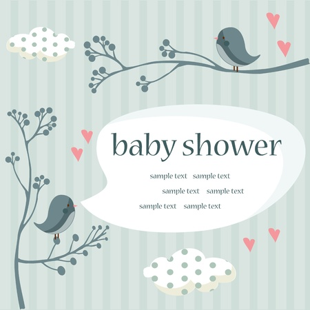 baby boy shower Stock Vector - 8834050