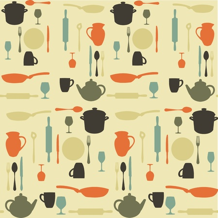 dish: seamless kitchen pattern