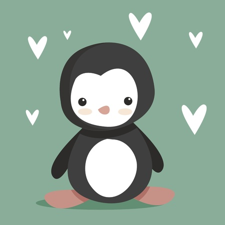 cute Penguin Stock Vector - 8833988