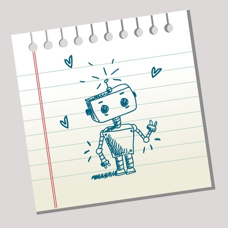 Scribble robot  Stock Vector - 8834055