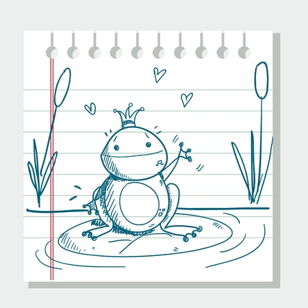 sketched frog prince Stock Vector - 8929170