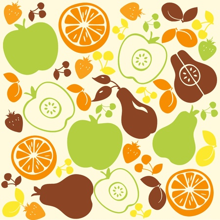 Fruit Pattern Background.  Vector