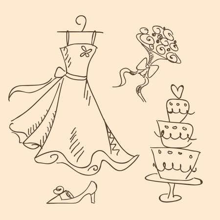 wedding sketch Vector