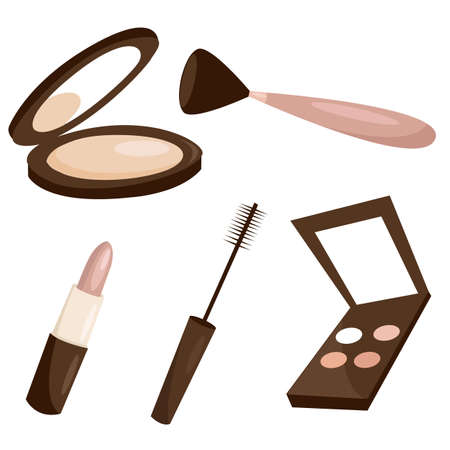 Makeup objects Stock Vector - 8929178