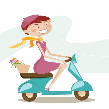 Ragazza di scooter
