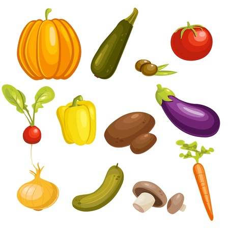 vegatables: Vegetables Set isolated.