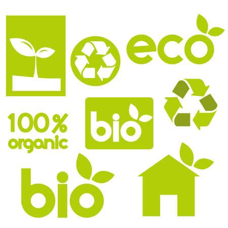 Green  icons,  vector illustration Stock Vector - 9237603