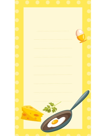 old fashioned recipe card ,  vector illustration Stock Vector - 9237613