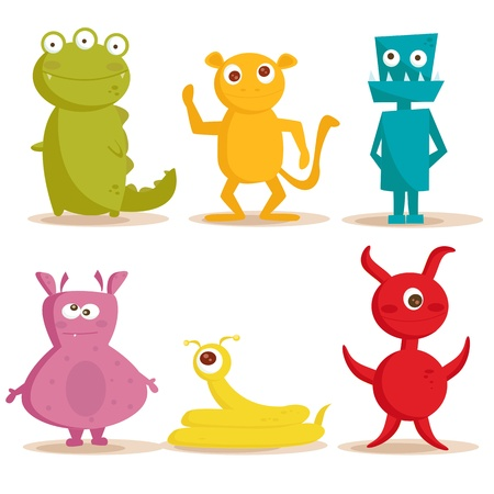 Cute monsters , vector illustration 일러스트