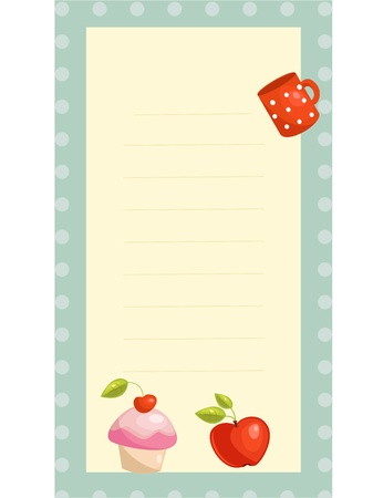 old fashioned recipe card ,  vector illustration  Vector