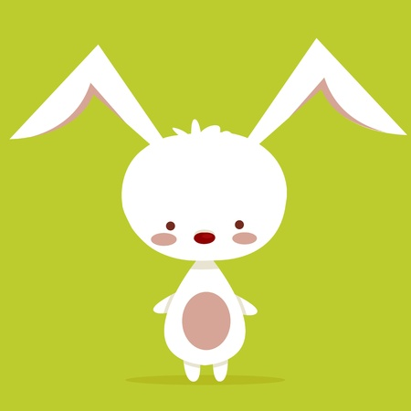 Cute rabbit character, vector illustration Illustration