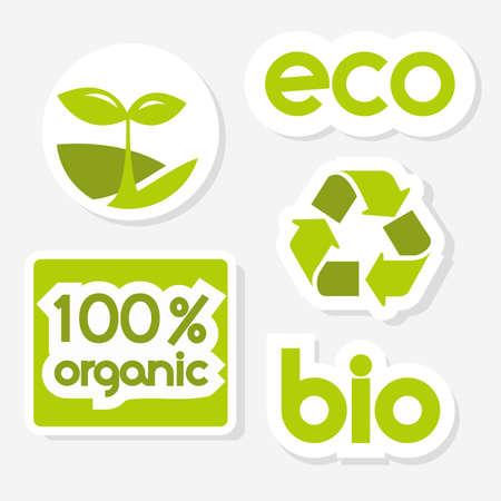 Green  icons   illustration Stock Vector - 9297412