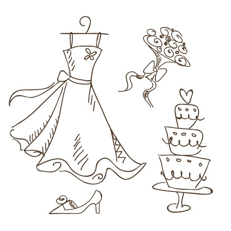 a wedding sketch,  illustration 일러스트