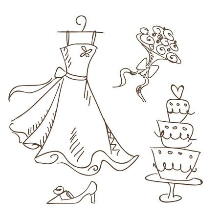 a wedding sketch,  illustration Illustration