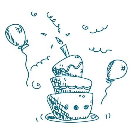 libro de cuentos: vector de pastel Doodle Vectores