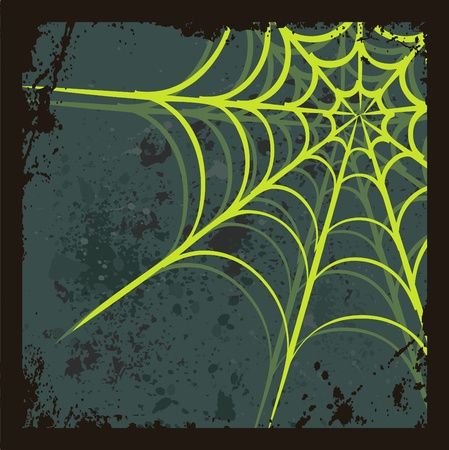 Halloween background with spiders web, vector illustration