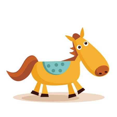 caballo caricatura: caballo de dibujos animados Vectores
