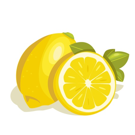 with lemon: vector lemon