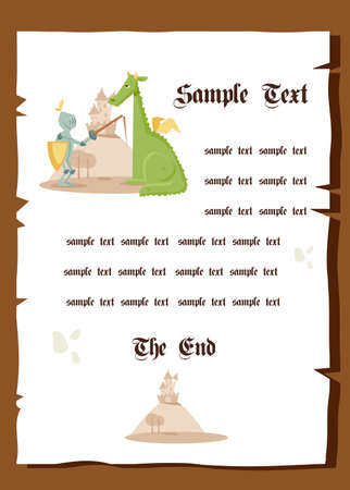 fairytale background: Fairy tale background, vector illustration