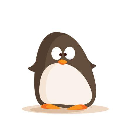 cartoon zoo animals: cartoon penguin Illustration