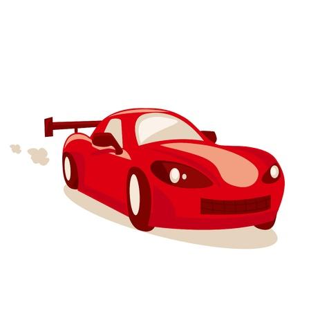 Cartoon race car, vector illustration Vector