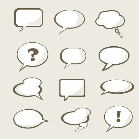 conversing: Set of vector speech bubble with space for your text