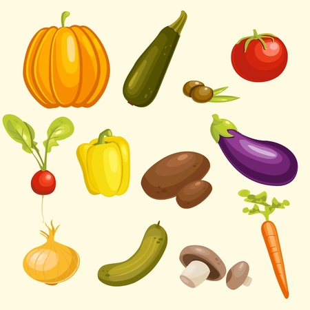 vegatables: Vegetables Set  Vector Illustration.